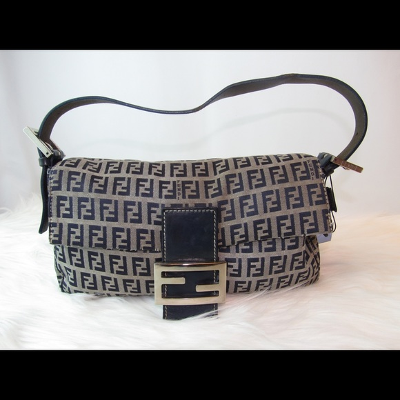 c8841cd462 Fendi Handbags - Fendi Zucca Blue baguette bag in canvas